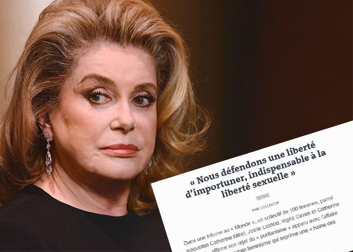 Catherine Denueve y 100 mujeres famosas defienden a los hombres coquetos