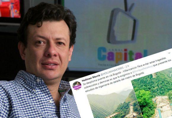 El malintencionado trino de Hollman Morris por la tragedia del puente en la vía Bogotá-Villavicencio