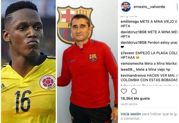 """""""Mete a Yerry Mina, canoso hp!"""": el matoneo en redes al técnico del Barcelona"""