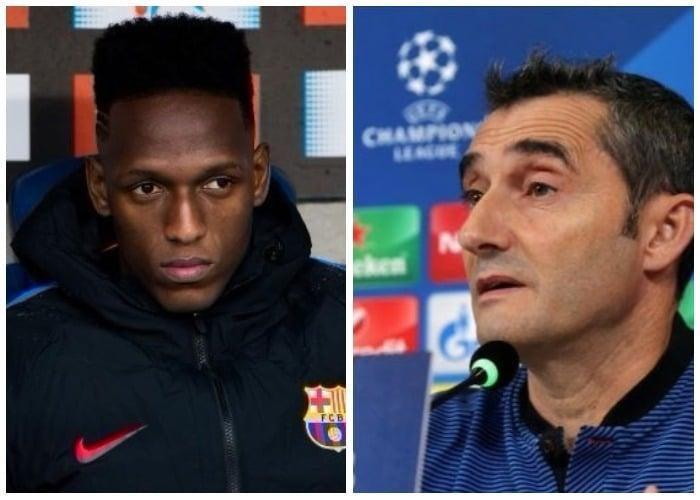 El desprecio del D.T. del Barcelona a Yerry Mina en Champions League