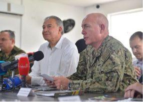 Naranjo y el almirante Tidd de visita Tumaco en los carnavales que se volvieron duelo