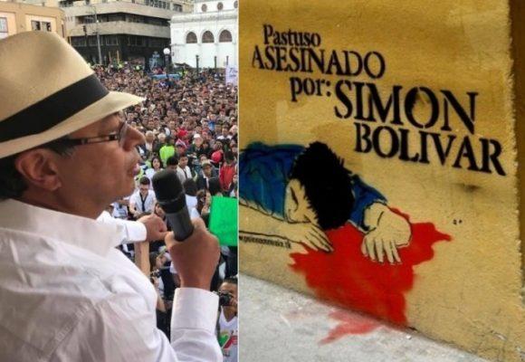 Para los pastusos, Gustavo Petro es igual de peligroso que Simón Bolívar