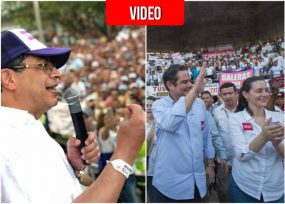 Germán Vargas Lleras y Gustavo Petro: 2 opuestos en la plaza de Sincelejo
