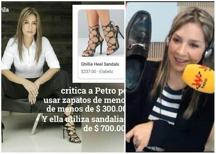 Vicky Dávila con sus costosos zapatos no es lo mismo que Petro
