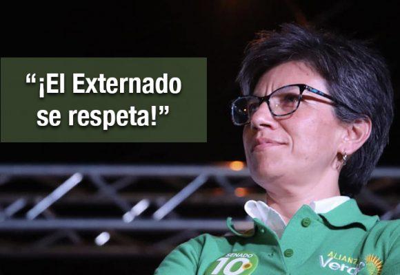 """Explosivo trino de Claudia López: """"Montealegre es una vergüenza"""""""
