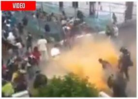 Caos en el centro de Popayán por la llegada de Uribe