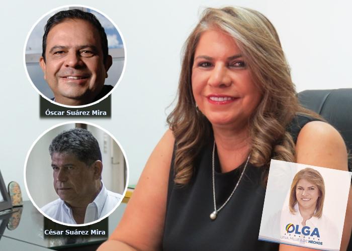 La senadora conservadora Olga Suarez Mira, forma parte del clan familiar denunciado por la Fundación Pares