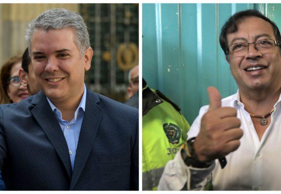 Carrera presidencial de dos: Iván Duque y Gustavo Petro