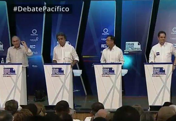 Los aplaudidos y abucheados en el debate presidencial del Pacífico