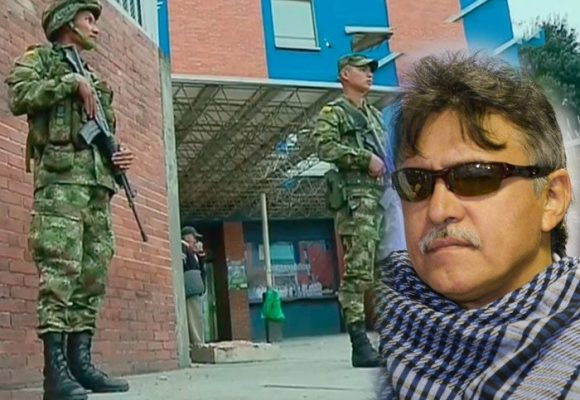Fuerte custodia militar a Santrich en el Hospital El Tunal