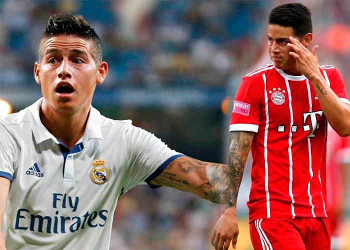 Las embarradas que sacaron a James del Real Madrid