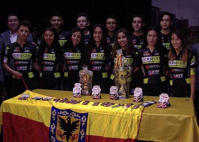 Krieger Team, el primer equipo profesional de ciclismo de pista del país