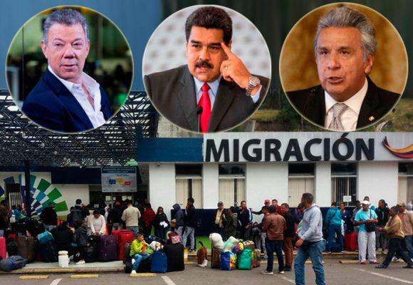 Desespero venezolano llega a la frontera de Colombia con Ecuador