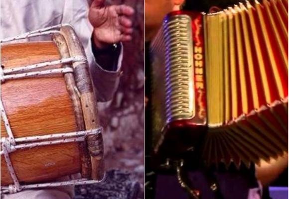 Entre el dum dum de la tambora y las notas de un acordeón