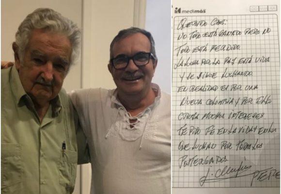 Pepe Mujica le escribe a Jesús Santrich