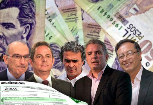 Declaraciones de renta de los candidatos: un saludo a la bandera