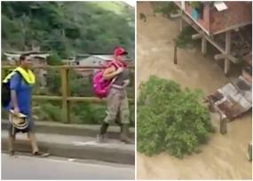 Las aguas del Cauca amenazan cuatro grandes pueblos de Antioquia