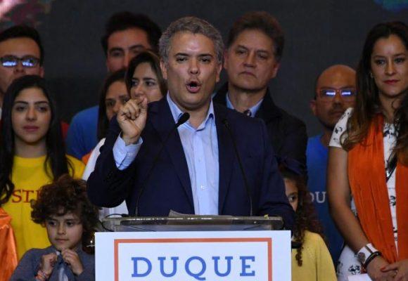 El triunfo de Iván Duque en su sede de Bogotá