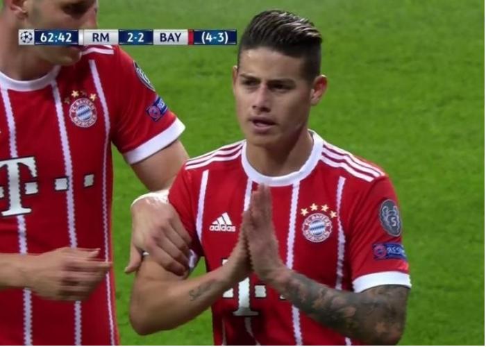 James está loco por volver a la banca del Madrid