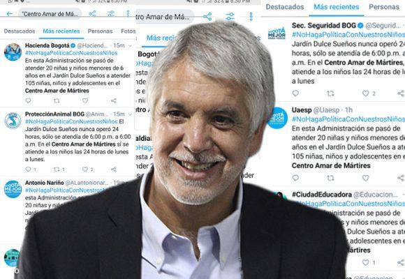 Peñalosa copia y pega mismo tuit contra Petro en todas las redes de la Alcaldía
