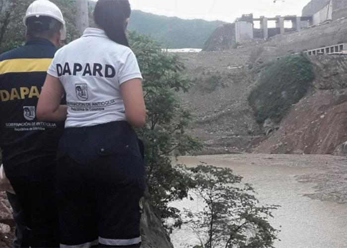 Un taponamiento temporal habría originado evacuación de personas cercanas al proyecto Hidroituango