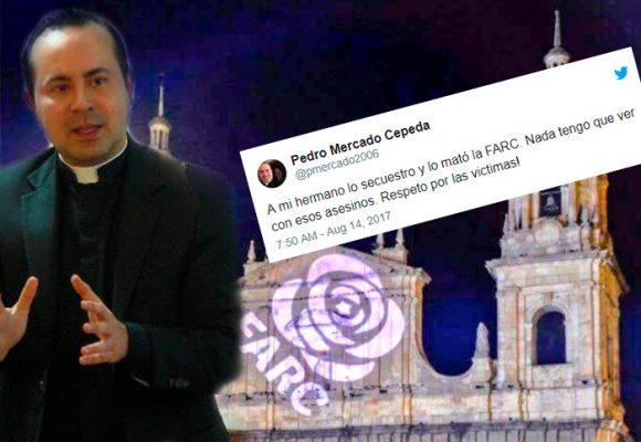 La indignación de Monseñor Mercado contra las Farc y Santrich que no logró controlar