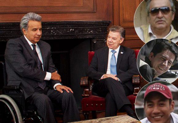 El menosprecio de Santos y Lenin Moreno a los familiares de los periodistas asesinados por Guacho