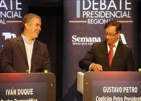 Se aguó el debate Duque vs Petro