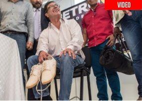 VIDEO: Los paisas le quitaron los ferragamo a Petro