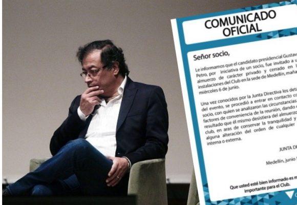 El Club campestre de Medellín le cierra las puertas a Gustavo Petro