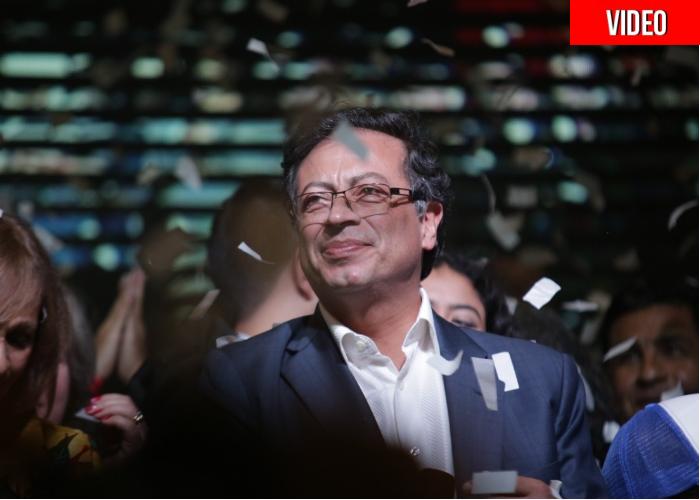 El agridulce domingo de Gustavo Petro en fotos y videos