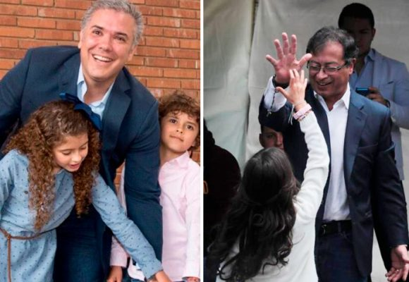 Duque y Petro votaron junto a su familia
