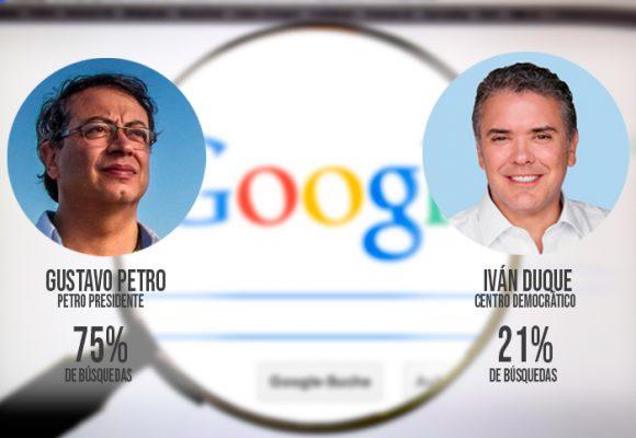 Duque vs Petro ¿A quién buscan más en Google?