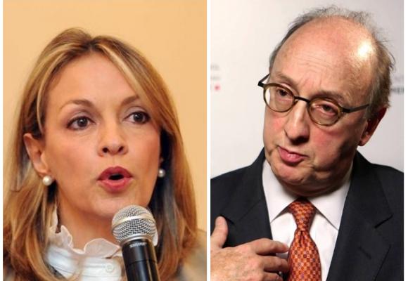 María Emma Mejía rumbo a la embajada de Portugal