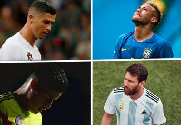 Neymar, Messi, Ronaldo y James: El ocaso de los dioses