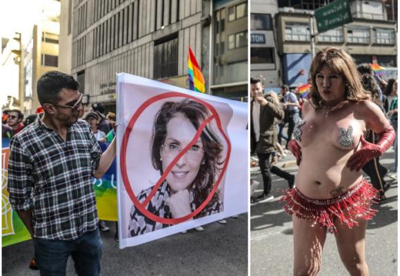 Rabia gay contra Álvaro Uribe y Viviane Morales en Bogotá
