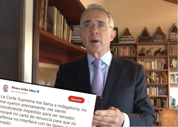 Álvaro Uribe: su defensa en Twitter