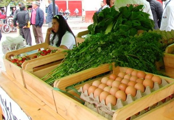 Familias desfavorecidas intercambian material reciclable por alimentos