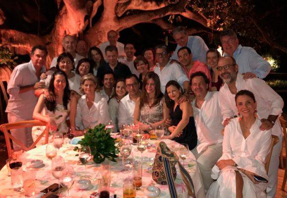 La fiesta de despedida del gabinete Santos en Cartagena