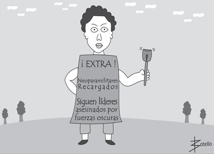 Caricatura: no más líderes sociales asesinados