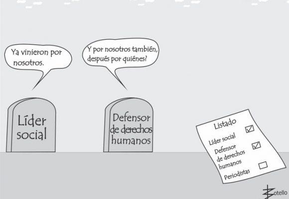 Caricatura: basta de asesinatos