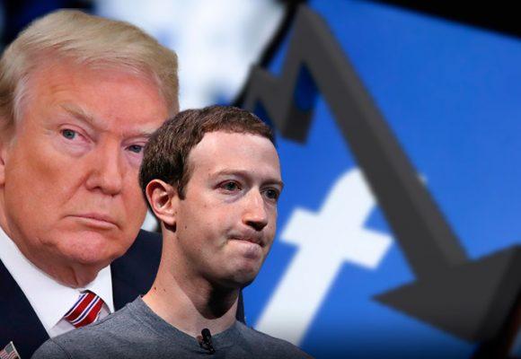 La caída de Facebook por cuenta de Trump