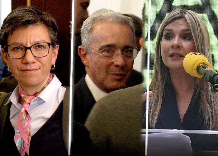 Álvaro Uribe se la gana a Claudia López por decirle paramilitar en libro de Vicky Dávila