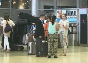 Como ciudadanos, Santos y Tutina llegan a Miami donde tienen apartamento