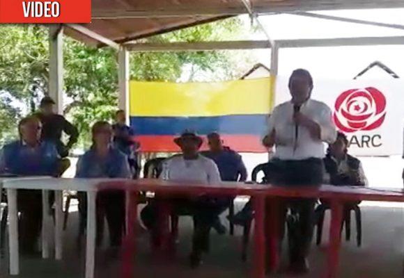 VIDEO: El Comisionado de Paz llega donde Joaquín Gómez con mensaje del gobierno Duque