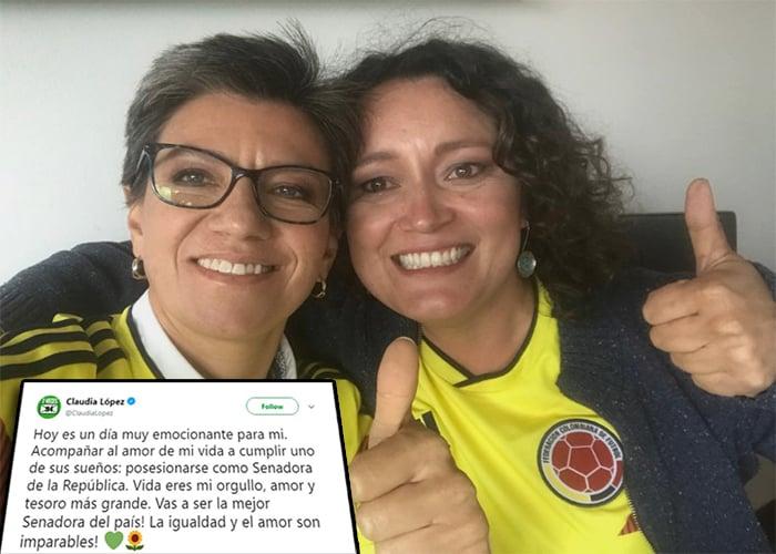 Claudia L&oacutepez y Angélica Lozano: una historia de amor atravesada por la política