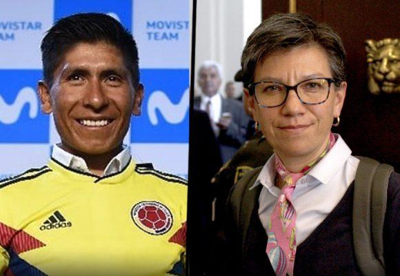 ¿A Nairo le da pena que lo asocien con Claudia López?