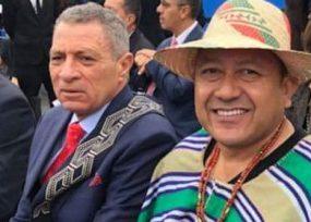 Delegación de guajiros con historial non-sancto en la posesión de Duque