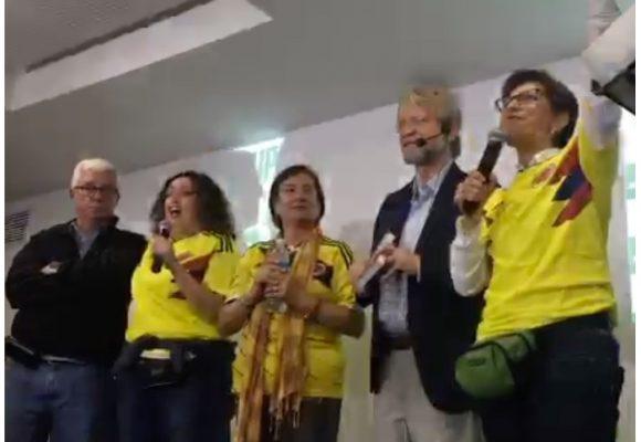 Petro y Fajardo los ausentes en la celebración de los 11.6 millones de votos por la Consulta Anticorrupción