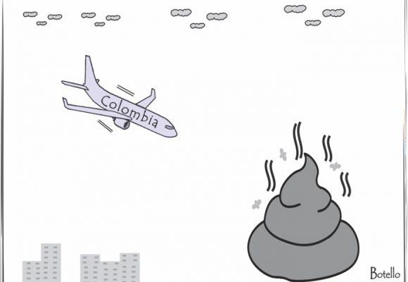 Caricatura: próxima parada de Colombia